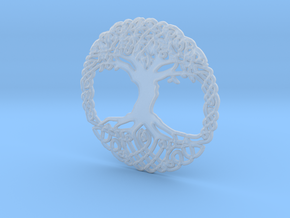 Tree Of Life Pendent  in Smooth Fine Detail Plastic