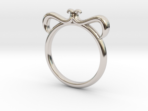 Petal Ring Size 10 in Platinum