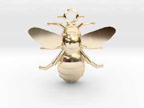 Bumblebee Pendant in 14k Gold Plated Brass