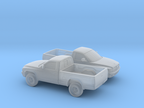 1/160 2X 1997-04 Dodge Dakota Regular Cab in Smooth Fine Detail Plastic
