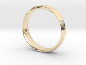 Mobius Ring Plain Size US 9.75 in 14K Yellow Gold