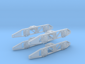 O class O gauge Side Frames - Sydney Number 4 Truc in Smooth Fine Detail Plastic
