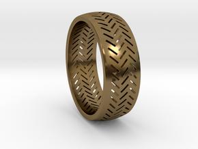 Herringbone Ring Size 6 in Polished Bronze