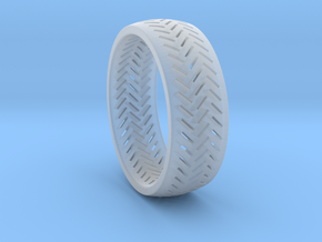 Herringbone Ring Size 6 in Smooth Fine Detail Plastic