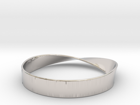 Möbius Bracelet Bangle in Rhodium Plated Brass