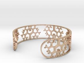 Geometric Tree Bracelet 7in (18cm) in 14k Rose Gold Plated Brass
