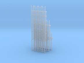 'N Scale' - Variety Pack of Caged Ladders in Smooth Fine Detail Plastic