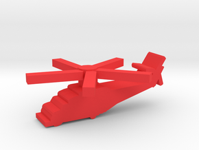 Game Piece, Red Force Hind Helicopter in Red Processed Versatile Plastic