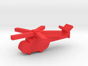 Game Piece, Red Force Hip Russian Heli in Red Processed Versatile Plastic