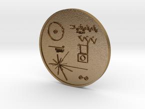 Voyager I Golden Record Medal in Polished Gold Steel