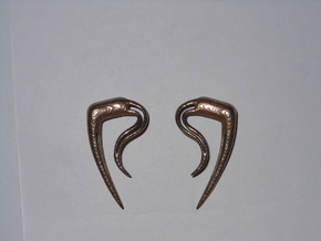 Earrings Tribalspike 2g in Polished Bronzed Silver Steel