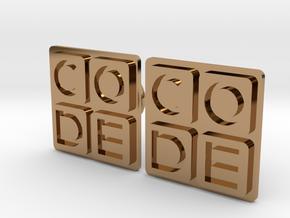 Code.org Cufflinks in Polished Brass