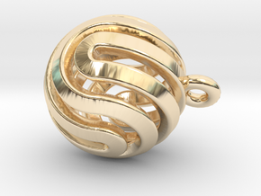 Ball-smaller-14-4 in 14K Yellow Gold