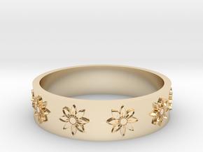 flower ring in 14k Gold Plated Brass