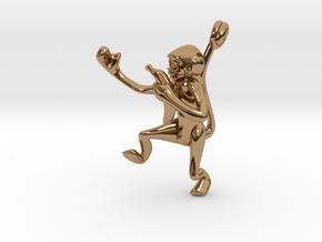3D-Monkeys 012 in Polished Brass