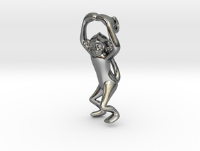 3D-Monkeys 031 in Fine Detail Polished Silver
