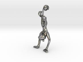 3D-Monkeys 037 in Fine Detail Polished Silver