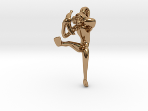 3D-Monkeys 048 in Polished Brass