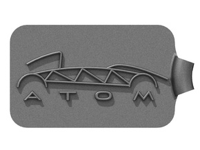 Atom Logo Key Fob in Black Strong & Flexible