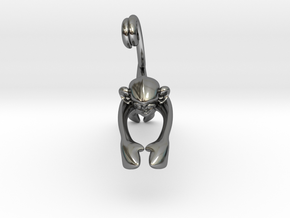 3D-Monkeys 061 in Fine Detail Polished Silver