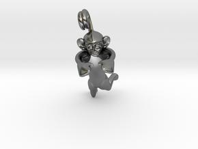 3D-Monkeys 064 in Fine Detail Polished Silver