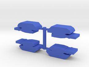Game Piece, Blue Force Abrams Tank, 4-set in Blue Processed Versatile Plastic
