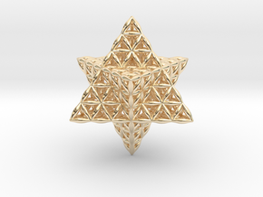 Flower Of Life Star Tetrahedron in 14k Gold Plated Brass