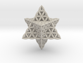 Flower Of Life Star Tetrahedron in Natural Sandstone