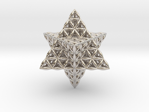 Flower Of Life Tantric Star in Platinum