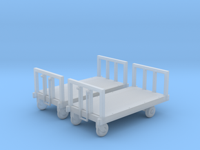 Four wheeled platform trolley (HO scale) in Smoothest Fine Detail Plastic