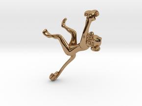 3D-Monkeys 108 in Polished Brass