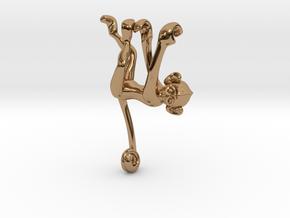 3D-Monkeys 111 in Polished Brass