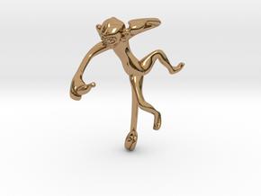 3D-Monkeys 124 in Polished Brass