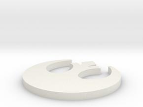 RebelOrder V3 in White Natural Versatile Plastic