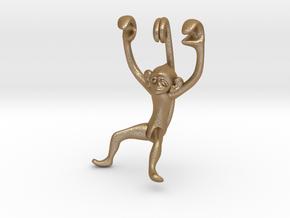 3D-Monkeys 138 in Matte Gold Steel