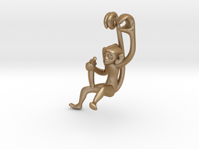 3D-Monkeys 139 in Matte Gold Steel