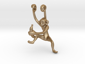 3D-Monkeys 140 in Matte Gold Steel