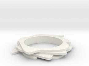 Neo Abstarct Bracelet in White Natural Versatile Plastic