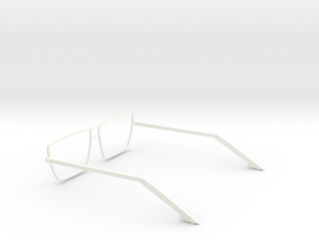Glasses - Type4 in White Strong & Flexible Polished