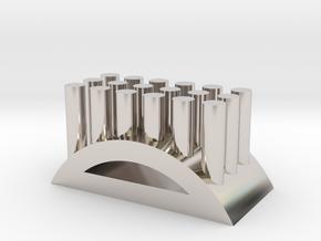 Shape toothbrush holder in Platinum