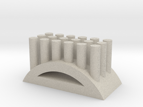 Shape toothbrush holder in Natural Sandstone