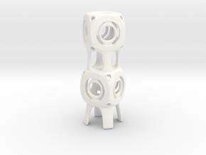 Conected Cubes in White Processed Versatile Plastic