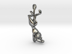 3D-Monkeys 181 in Fine Detail Polished Silver
