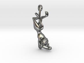 3D-Monkeys 181 in Fine Detail Polished Silver