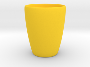 Coffee mug #1 XL - Inner ear in Yellow Processed Versatile Plastic