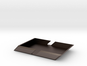 Angle Wallet in Polished Bronzed Silver Steel