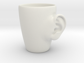 Coffee mug #3 - Real ear in White Natural Versatile Plastic