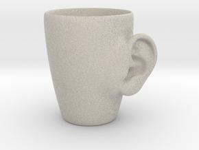 Coffee mug #3 - Real ear in Natural Sandstone