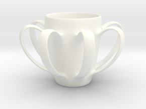Coffee mug #4 - Many Handles in White Processed Versatile Plastic