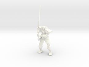 Robot Samurai Skeleton 01 in White Strong & Flexible Polished
